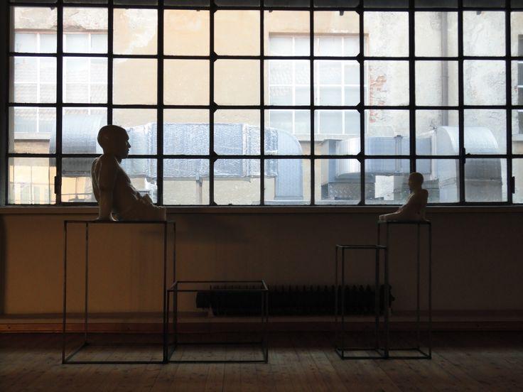 """Marta Fumagalli, """"Accumulazioni"""", scultura in cera e ferro, Fabbrica Borroni, Bollate."""