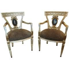 Pair of Italian Neoclassic Armchairs