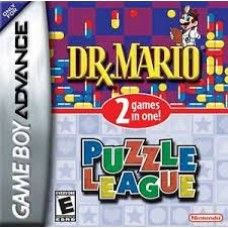 Dr. Mario & Puzzle League - GBA - USED Addictive puzzle action is coming to the palm of your hand with Dr. Mario and Puzzle League - two fantastic puzzle games on one Game Pak! Dr. Mario requires equal parts strategy and speed to achieve victory.