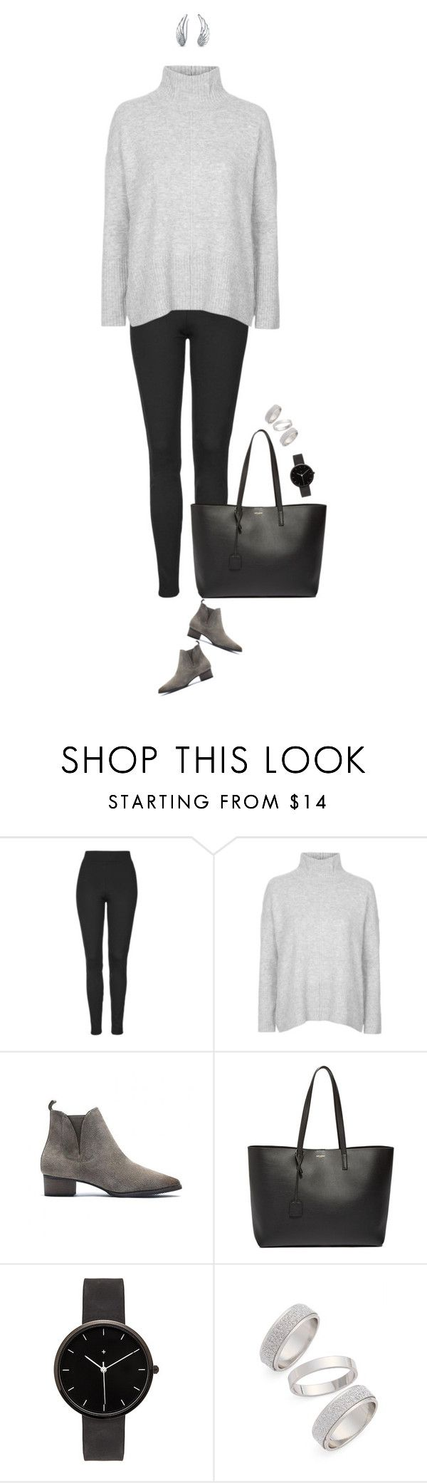 """""""Sunday brunch outfit !"""" by azzra ❤ liked on Polyvore featuring moda, Topshop, Yves Saint Laurent, I Love Ugly, Bling Jewelry, women's clothing, women, female, woman e misses"""