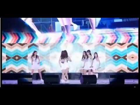 Moment K Pop group 'G Friend' fall over on slippery stage 6 times in 4 m...