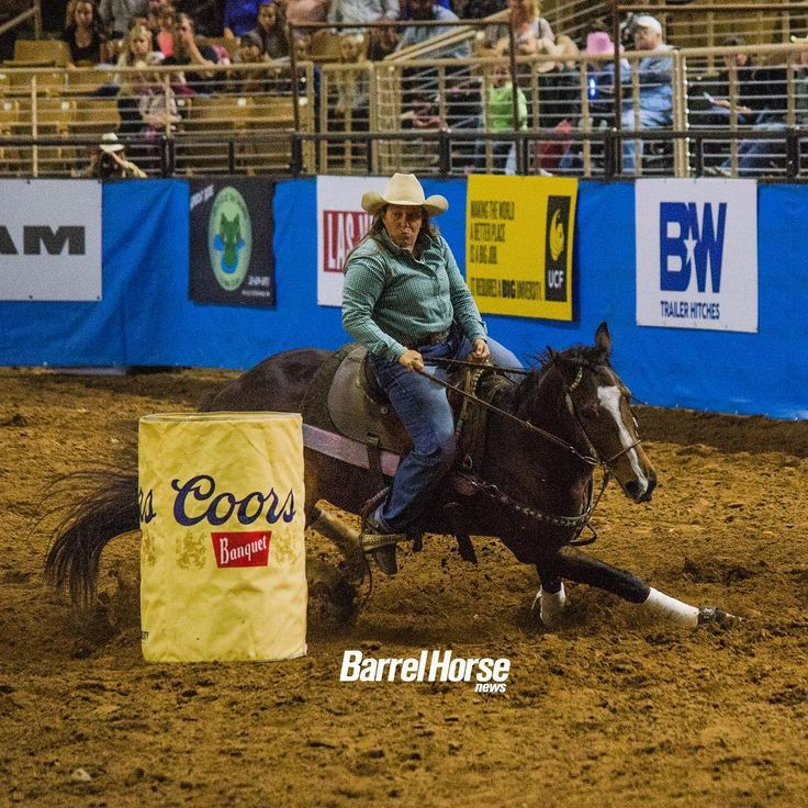 Tracy Nowlin rode JG Madison to win round No. 1 of the RAM National Circuit Finals Rodeo with a 15.26 #RNCFR #BarrelHorseNews