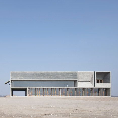 Beijing studio Vector Architects , Seashore Library on a beach in Nandaihe, China - dezeen