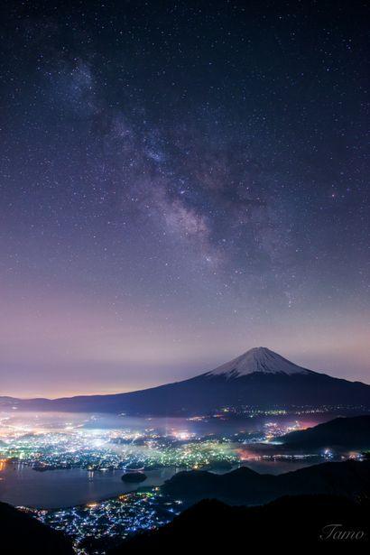 銀河と富士〜新道峠〜