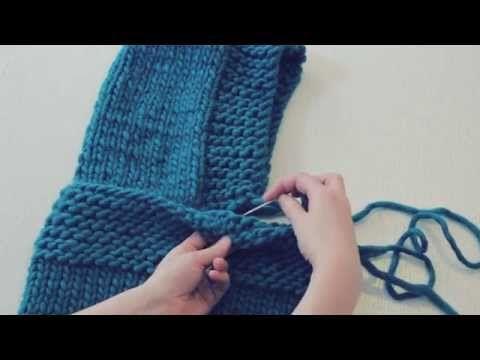 Love Wool DIY circular needles: Cuello capucha · Neck warmer hood - YouTube