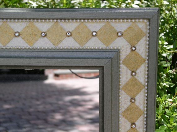 Hand Painted Mirror Frame  Harlequin Motif in by sharonmooradian, $275.00