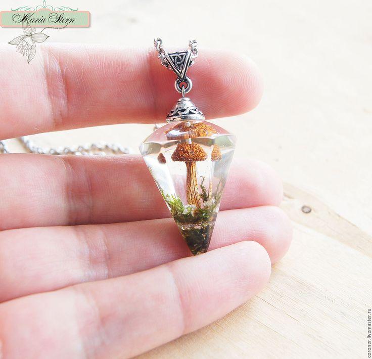 """Купить Кулон-кристалл 3 см """"Forest diamond"""" из ювелирной смолы - разноцветный, кулон смола"""