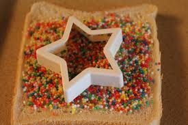 Fairy bread magic stars  Possum Magic Party