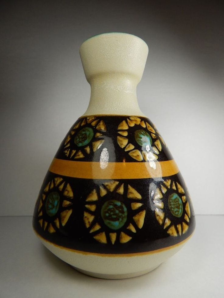 Vintage West German Pottery Dumler and Breiden Ceramic Vase 128 20. Fat Lava Era | eBay