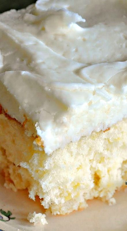 Crushed Pineapple Cake with Pineapple Frosting ❊