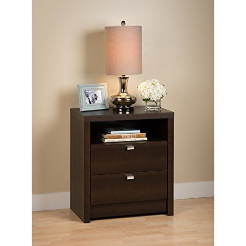 The clean lines of the Series 9 Collection will enhance any modern décor. At 28 Inch tall, the Series 9 Tall 2-Drawer nightstand is the ideal height for taller beds with pillow top mattresses. Not only does this nightstand add style to your bedroom but it is functional with two smooth sliding ... more details available at https://furniture.bestselleroutlets.com/bedroom-furniture/nightstands/product-review-for-espresso-series-9-designer-tall-2-drawer-nightstand/