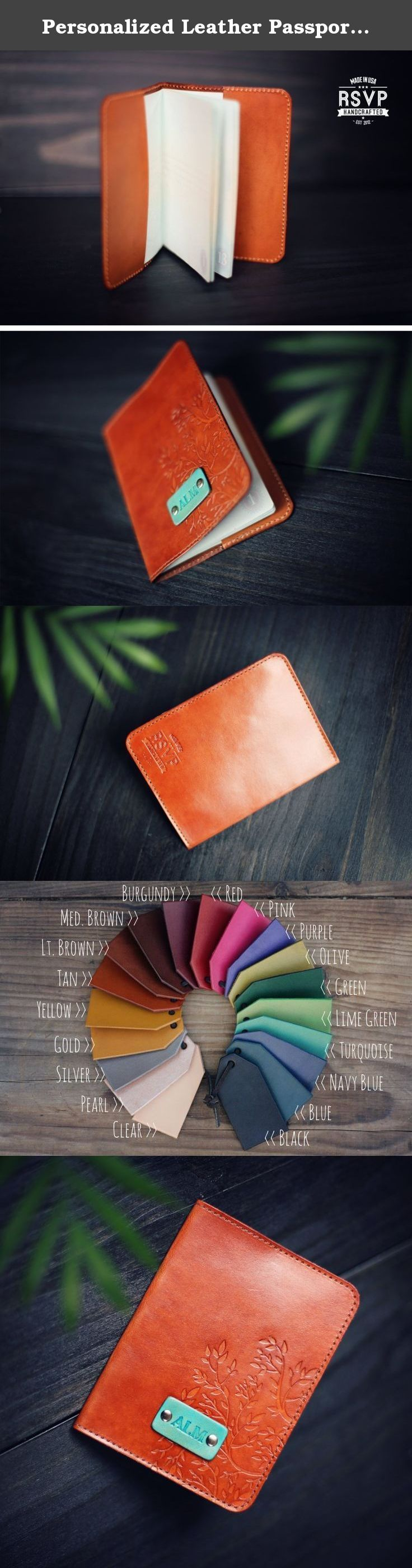 Personalized Leather Passport Cover, Real Leather, holder, wanderlust, travel, Tree Branches stamp, handmade, Custom text, name initials. Custom personalized real leather Passport Cover, it's 100 % Handmade and hand stamped. Perfect personalized gift for your husband, wife, girlfriend, boyfriend, brother or sister :) Trendy Hipster Tree branches stamp will make this stylish full grain leather passport holder a perfect gift. Unique Birthday gift, Anniversary, Wedding, Shower, graduation…