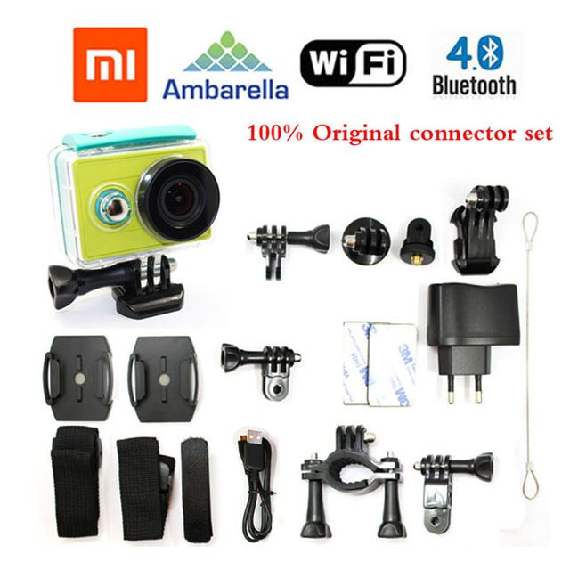 Free Shipping!!Original Xiaomi Yi Sport Action Camera 16MP 60FPS WIFI Ambarella Bluetooth4.0 Waterproof Connector Set US $78.25-128.6 To Buy Or See Another Product Click On This Link  http://goo.gl/EuGwiH