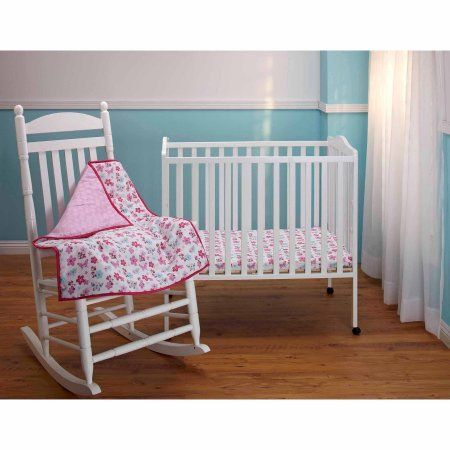 Disney Baby Bedding Minnie Mouse 3-Piece Portable Crib Bedding Set, Multicolor