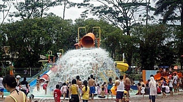 fasilitas kolam renang di taman matahari - bogor