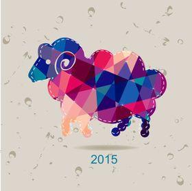 2015年賀状に使える海外のひつじ年ベクター素材【illustrator】 - NAVER まとめ