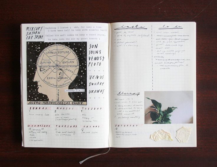 last week's bullet journal spread! I've gotten a couple messages asking about how I use a bullet journal so I thought I'd explain my process! I have adhd and hate structure so I like to use the bullet journalling format and lots of pictures to trick my brain into organizing my week. I do a monthly spread with a habit tracker (meds, ptsd symptoms, etc), and then within a month I have weekly spreads with tasks, social media stuff, and the planetary movements. I also do a spread each week for…