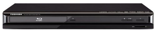 Toshiba BDX1100 1080p Blu-ray Disc Player, Black by Toshiba. $94.50. Toshiba BDX1100 1080p Blu-ray Disc Player    1080p Full HD playback, HDMI-CEC connectivity, and BD-Live support make the BDX1100 a great home theater choice where  space is limited.    Features  Full HD 1080p/24 fps video output provides an amazing cinema experience in the comfort of your own home  BD-Live opens up a world of online features, with a convenient SD Card Slot for storing saved content  AVCHD Play...