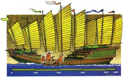 a comparison of one Admiral Zheng's massive treasure junks to the Santa Maria that carried Columbus. He used these ships under the service of the Chinese emperor in an effort to explore the vast chinese empire of the middle ages and to bring wealth back to the emperor. Zheng He was a muslim eunuch who eventually became commander of the Chinese Navy as his master, the emperor Yongle, ascended through the ranks of the chinese nobility. The first of his six voyages was in 1402 and by the end of…