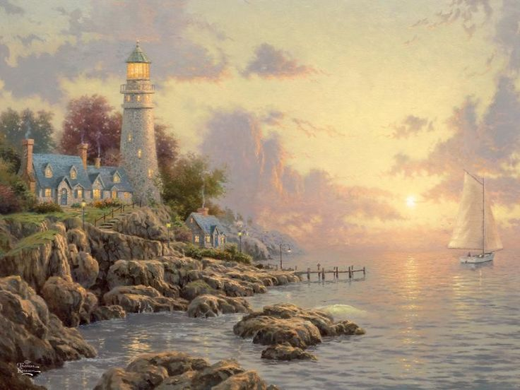 Ceaco Thomas Kinkade The Sea of Tranquility Jigsaw Puzzle
