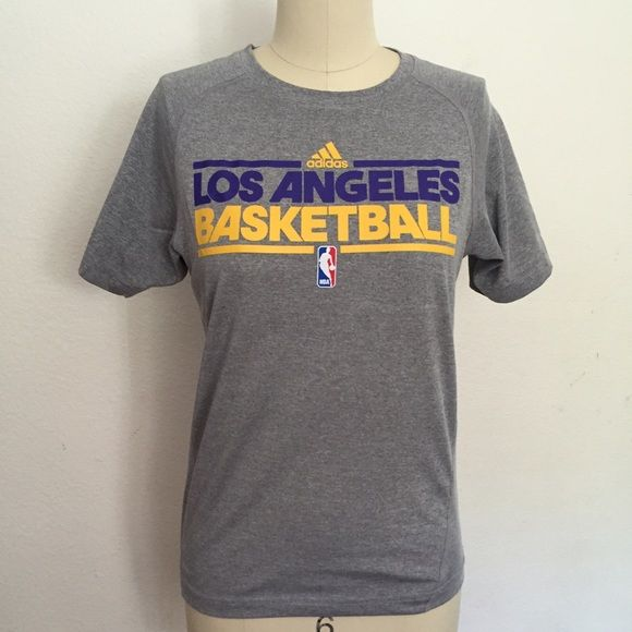 Lakers shirt Lakers practice tee, it's boys size M 10/12, but fits women small. Adidas Tops Tees - Short Sleeve
