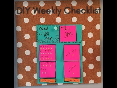 DIY Back To School Goal Checklist - YouTube