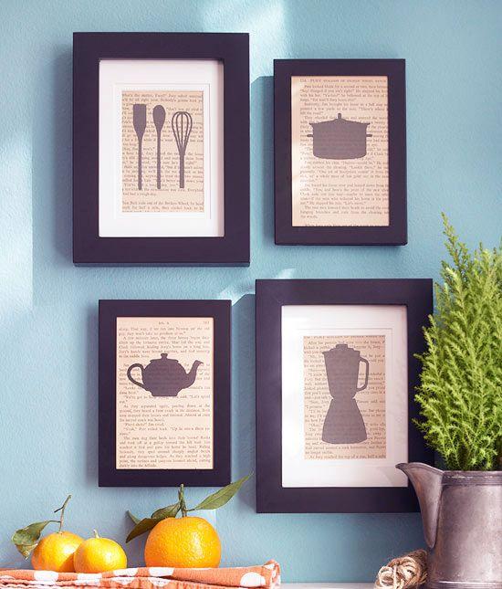 Украсить стены кухни можно необычными картинами, изготовленными самостоятельно. Вырежьте силуэты кухонной посуды, приклейте их на страницы кулинарной книги и поместите в рамку! Вауля! Авторские постеры готовы! Кстати подобрать рамки под Ваши работы мы поможем с удовольствием  http://ramka-kiev.com.ua/ru/calc/ #рамка #багетнаямастерская #рамкадляаппликации #фоторамка #багетнаямастерскаяВиртуоз