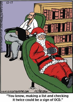 Today's funniest #funny (with a Christmas theme) | #psychology #MerryChristmas | Close to Home Comic Strip on GoComics.com