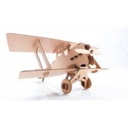 ♡Leolandia Kartonnen vliegtuig bouwpakket 2♡  Bouwpakket van een kartonnen vliegtuig (dubbeldekker). Geschikt voor kinderen vanaf 3 jaar. ~Leolandia~