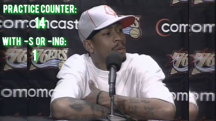 "Allen Iverson ""PRACTICE?!"" (full version) with counter (HD)"