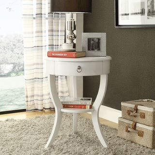 Amazing @Overstock.com   Neo White Oval Curvilinear Legged Nightstand   Neo Round  Nightstand In