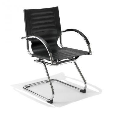 € 59,50 mod. 3031 #sconto 50% #sedia #poltroncina moderna da #ufficio in acciaio cromato e finta pelle di colore #nero. In #offerta prezzo su #chairsoutlet factory #store #arredamento. Comprala adesso su www.chairsoutlet.com