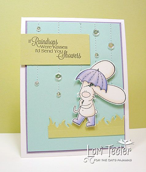If Raindrops Were Kisses card-designed by Lori Tecler/Inking Aloud-stamps and dies from The Cat's Pajamas