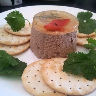 Divine Duck Liver Pâté - bought from the Harvest Market, Launceston - made by The Boathouse on Northbank - absolutely yummilicious!