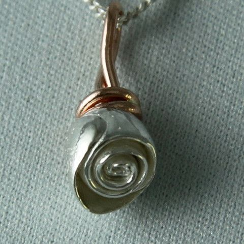 cupcake rose silver/gold necklace - my urbanware
