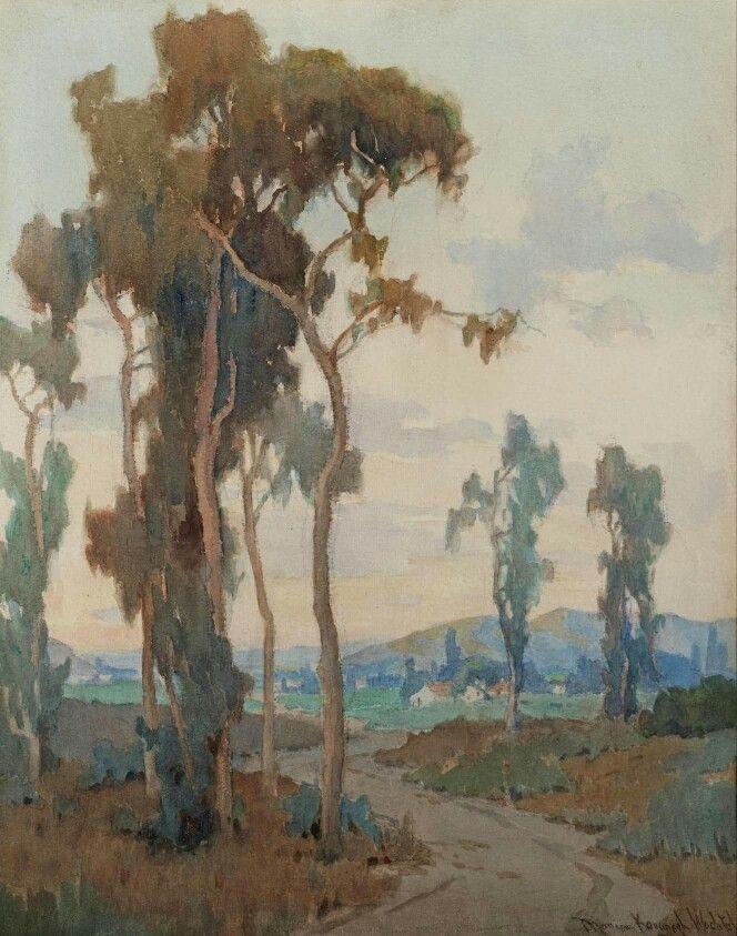 Marion Kavanaugh Wachtel (American painter) 1875 - 1954 Eucalyptus in the Arroyo, s.d. watercolour on paper 20 x 16 in.