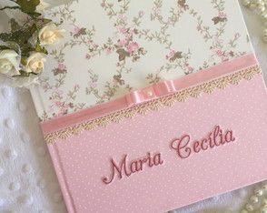 Livro do Bebê Menina Rosas Delicado