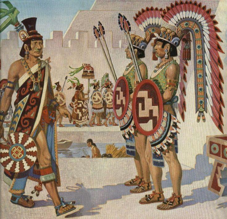 Aztec temple guards.