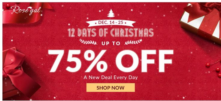1.up to 70% off  2. Draw a coupon with a big discount  3. free shipping worldwide all time  4. Deals from $0.01 Dec.14-25  Use coupon:rosegal20  (coupon with a large discount - 20% on all products)  Click&buy:http://bit.ly/ChristmasSalesDeals2017