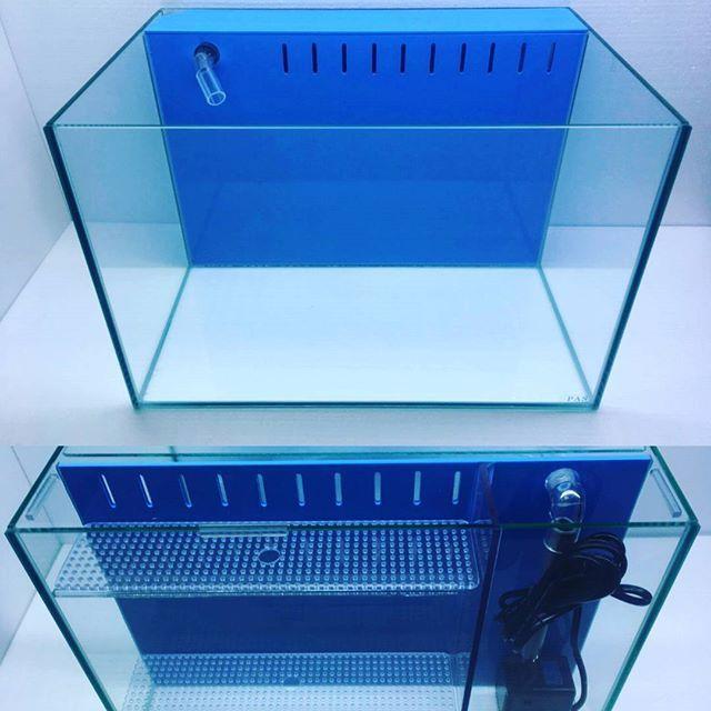 【pleco.jp】さんのInstagramをピンしています。 《水槽の紹介です。正面からと後ろからの画像です。  グラシア ネクスト 背面濾過システム サイズ W450×D300×H300  スリットから水が落ち、背面の濾過層で濾過された綺麗な水が、水中ポンプで上のパイプから水槽内に戻されるシステムになっています。  #水槽 #ガラス水槽 #アクアリウム #水中ポンプ #濾過槽  #aquarium #watertank》