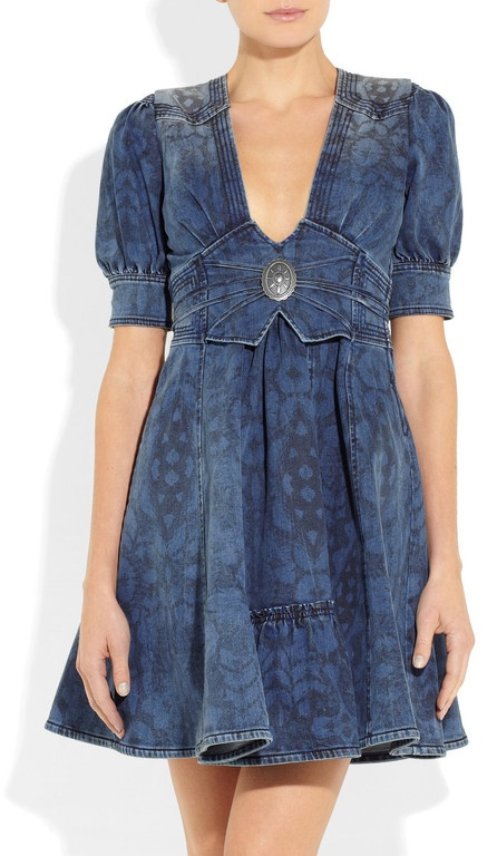 Just Cavalli denim dress. I'd add a small snap in modesty insert in there.