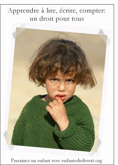 Carte Photo d'une petite fille marocaine pour envoyer par La Poste, sur Merci-Facteur !