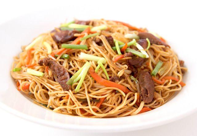 La Cuisine de Bernard: Les Nouilles Sautées Chinoises aux Légumes et Canard