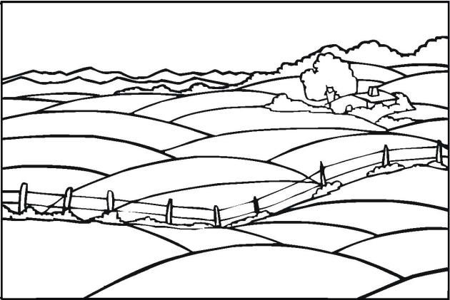 Simple Landscape Coloring Pages 2 Colorful Landscape Adult