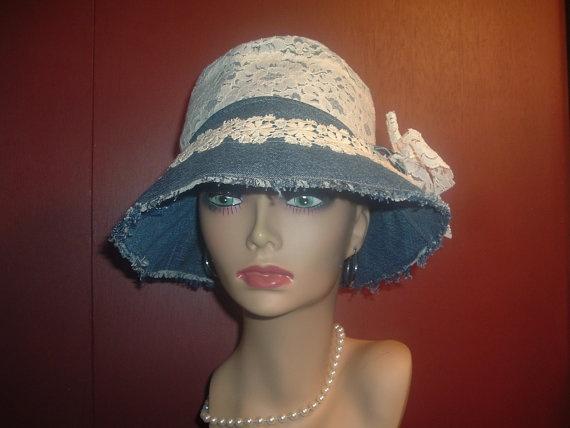 Womens Hat,Eco Friendly Denim Womens Sun Hat, Womens Beach ... - photo#6