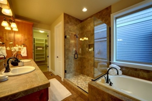 Master Bathroom I could love in a heartbeat