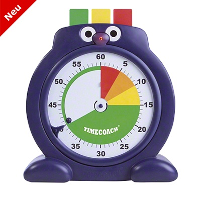 Cute table clock with eyes and nose. Helps kids to manage their time.