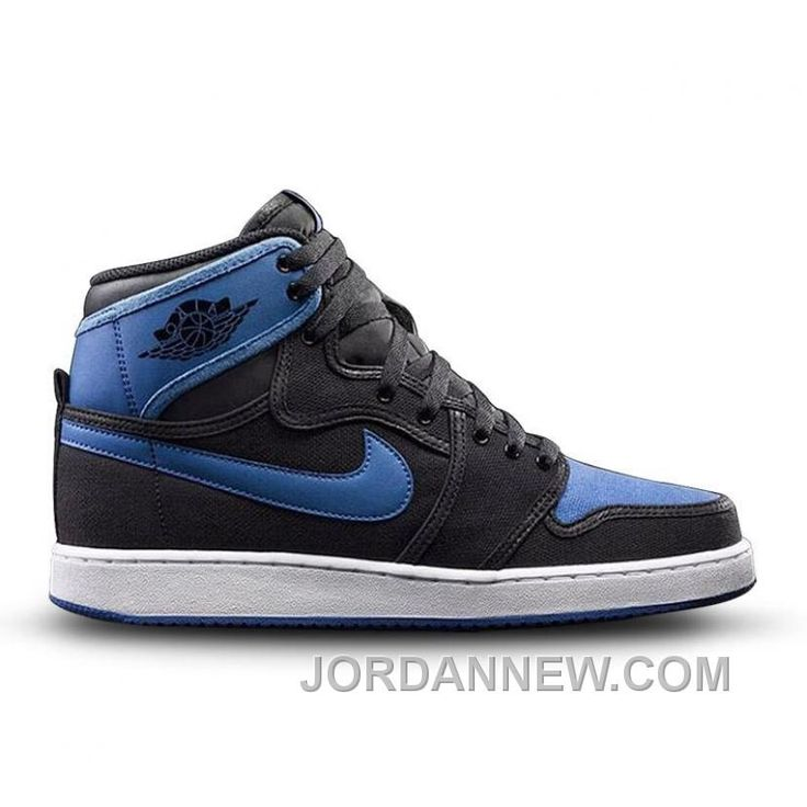 Authentic 638471-007 Air Jordan 1 Retro KO High OG Black/Black-Sport Blue  Discount