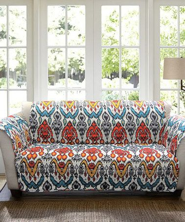 $39.99 Love this Turquoise & Rust Jana Sofa Protector on #zulily! #zulilyfinds