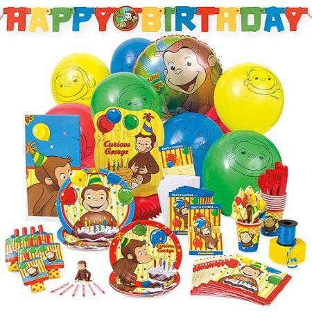 Curious George Deluxe Hoopla Party Supplies Kit for 8